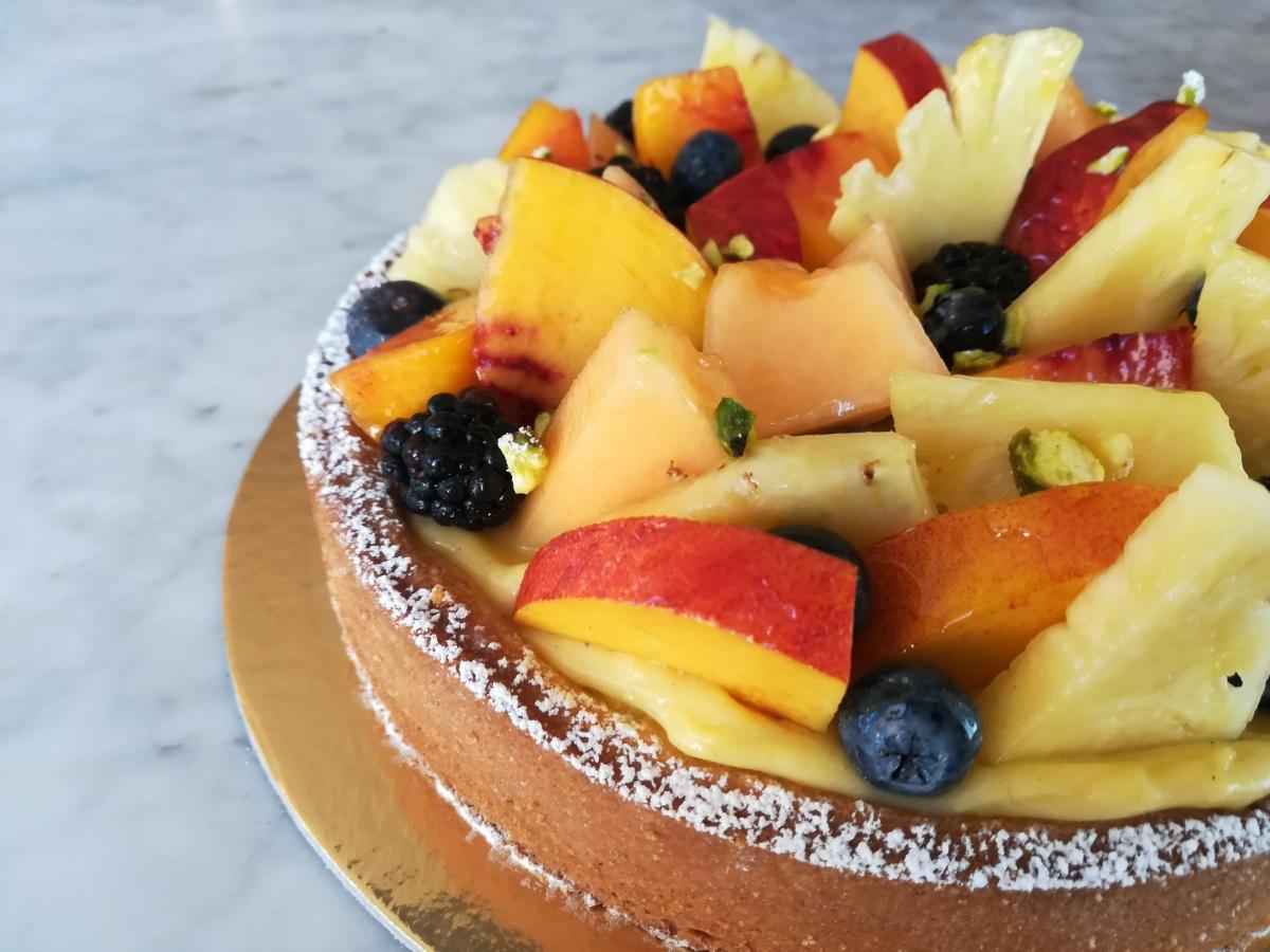 Crostata di frutta alla doppia crema